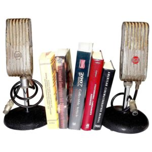 RCA Broadcast Microphones, 1945. As Bookends or Display As Sculpture