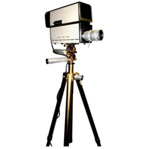 Sony Vintage Vidicon Video Camera, circa 1969-1970, with Tripod