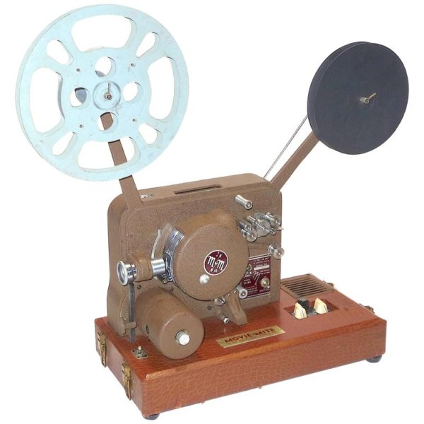Sound and Picture Movie Projector Art Deco Design All Original 16mm, circa 1940s
