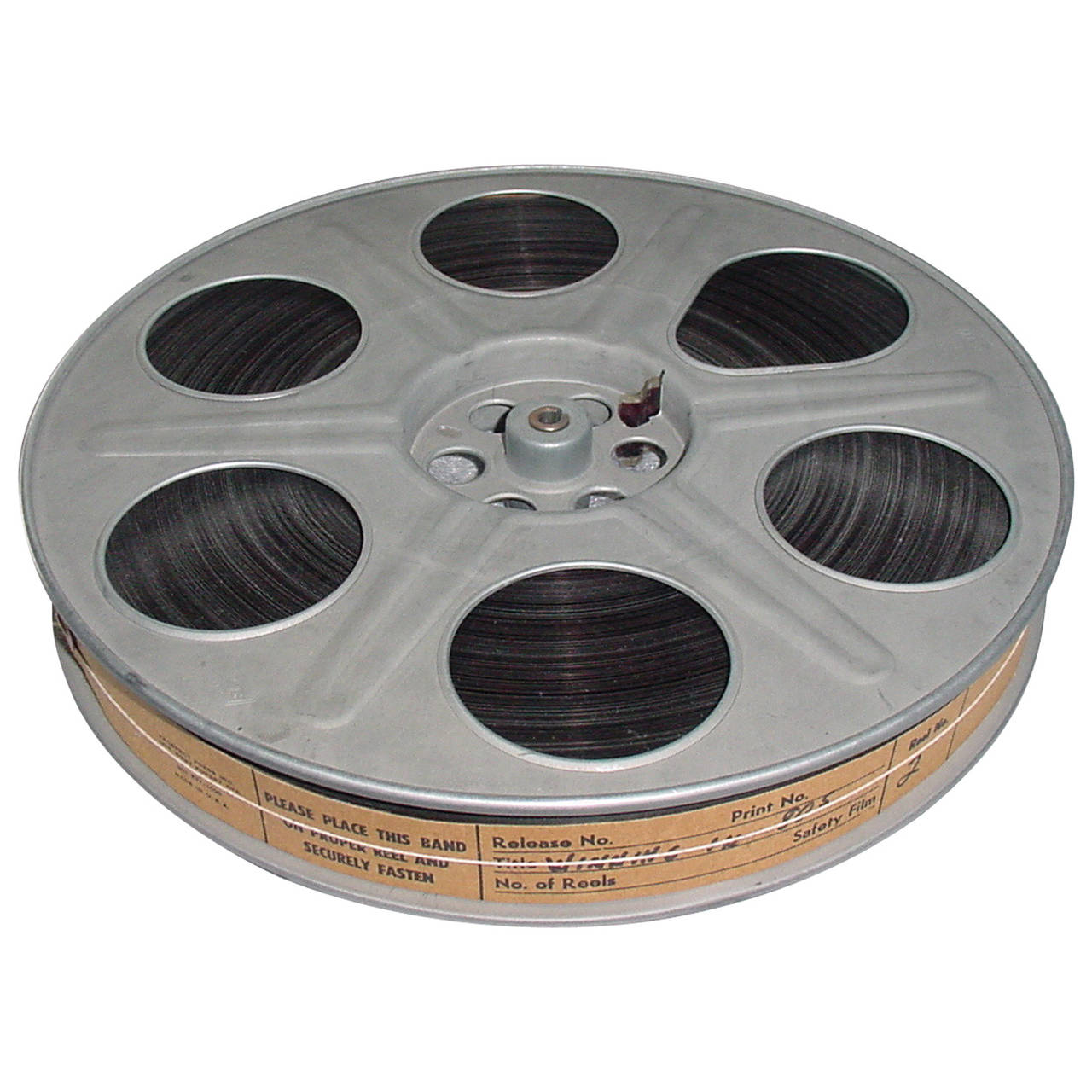 Vintage Movie Reel With 35mm Sound Motion Picture Film ...